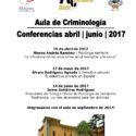 Aula de criminología. Conferencias