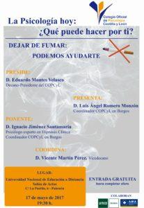 """Charla: """"Dejar de fumar: podemos ayudarte"""" @ Salón de actos de la UNED   Palencia   Castilla y León   España"""