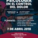 I JORNADA NACIONAL DE PSICOLOGÍA EN EL CONTROL DEL DOLOR