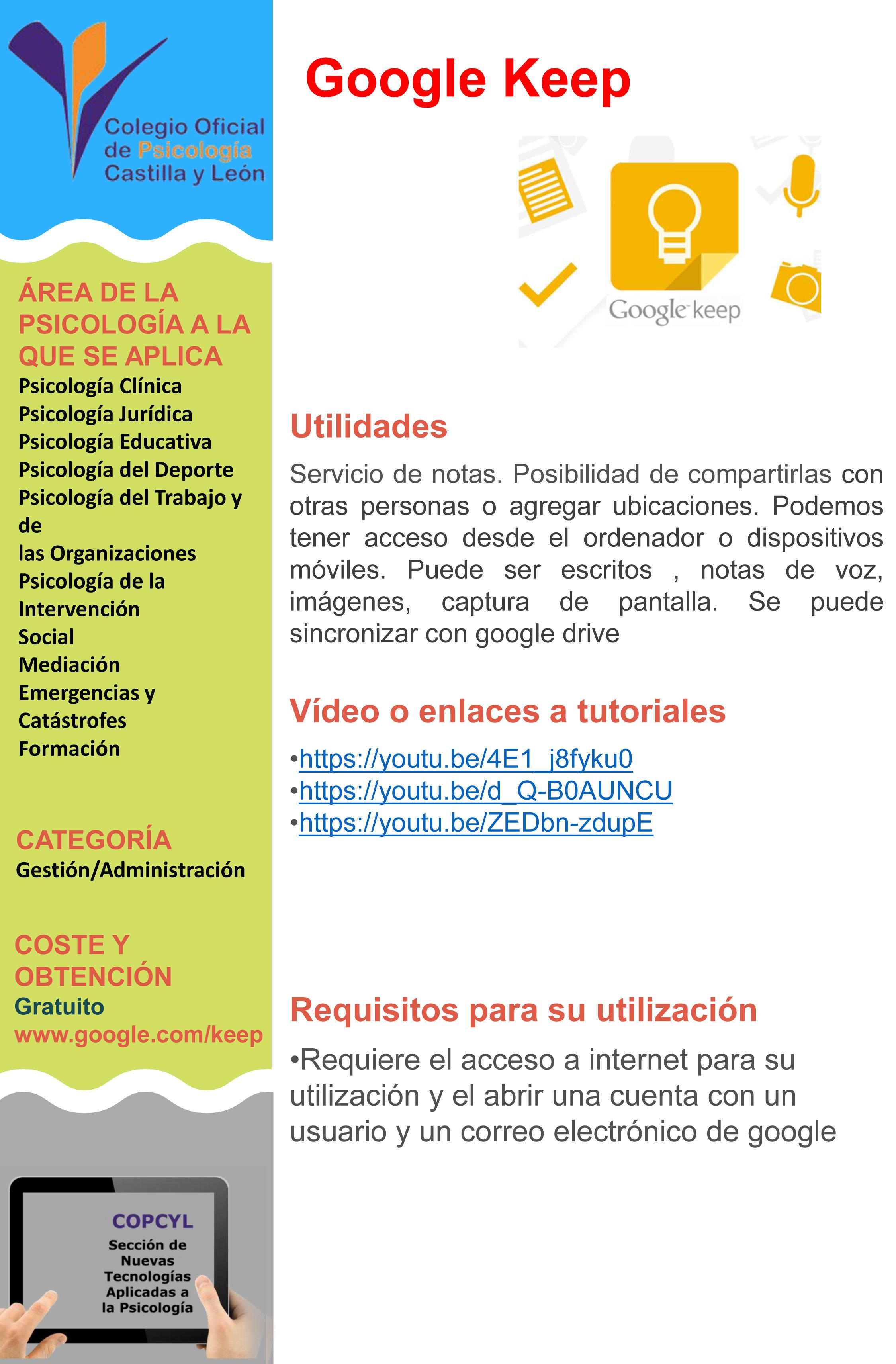 Ficha Google Keep